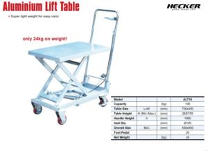Catalog_รถโต๊ะยกอลูมิเนียม Aluminium lift table