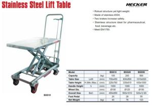 Catalog_รถโต๊ะยกสเตนเลส Stainless lift table