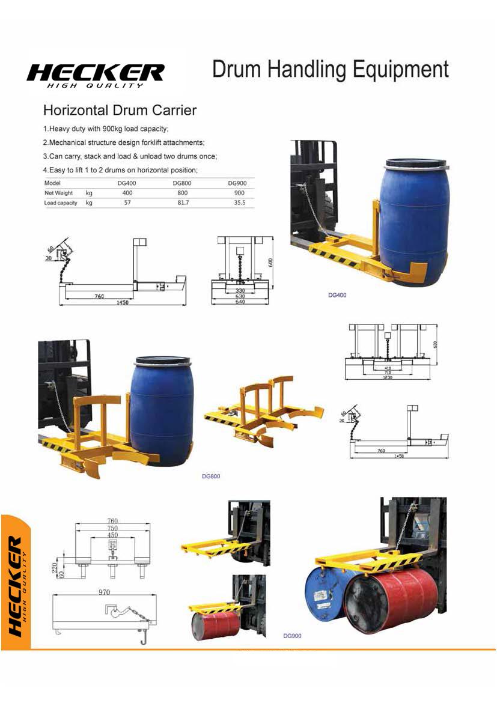 อุปกรณ์เสริมรถโฟล์คลิฟท์สำหรับยกถัง DG400