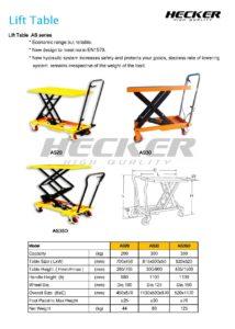 รถโต๊ะยก Lift Table รุ่น AS20 AS30 และ ฺAS35D