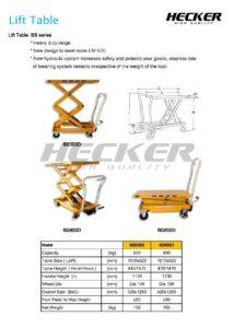 รถโต๊ะยก Lift Table รุ่น BS500D และ ฺBS800D