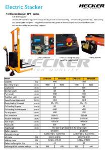 รถยกทับซ้อนแบบไฟฟ้า Full – Electric Stacker EPS series