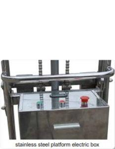 หน้าจอควบคุมการทำงานของ Stainlees steel platform electric box SJ seires