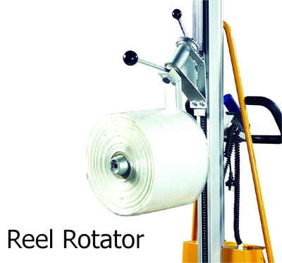 Option ของ Mini Semi-Electric Stacker แบบ Reel rotator