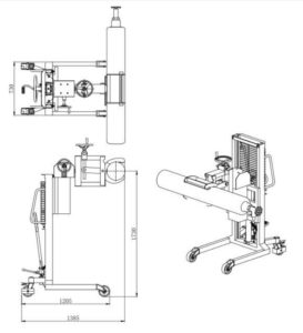 cylinder stacker TM350 diamension 1
