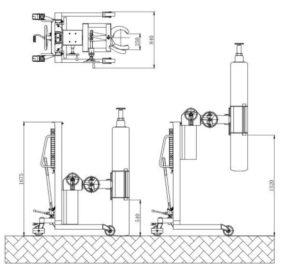 cylinder stacker TM350 diamension 2
